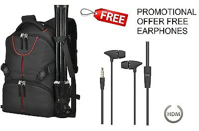 Camera DSLR SLR & Laptop Backpack Rucksack Bag Case For Nikon Sony Canon