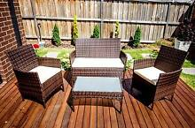 4 Pieces Outdoor Wicker Rattan Table Chair Set Garden Furniture Melbourne CBD Melbourne City Preview