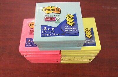 New Post-it Pop-up Notes 3x3 Assorted Colors Lot Of 20 15d