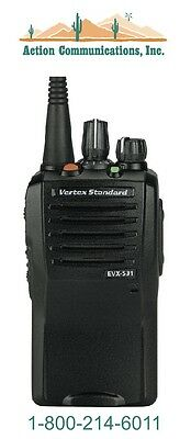 New Vertexstandard Evx-531 Uhf 403-470 Mhz 5 Watt 32 Channel Two Way Radio