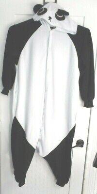 Panda Bear Costume Adult M Black White Halloween - Panda Bear Halloween Kostüm