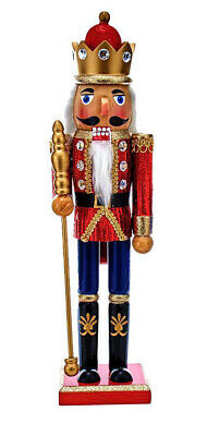 [Kurt Adler Nutcracker - King with Red Glitter Coat Christmas Nutcracker </Title]
