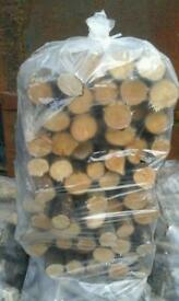 Hardwood sticks small burners blocks
