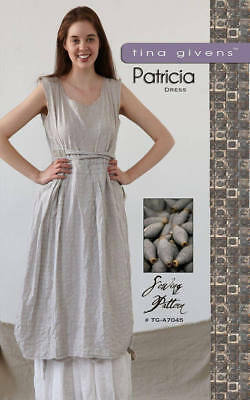Patricia Dress & Skirt TG-A7045 Sewing Pattern 2 pcs. by Tina Givens- Lagenlook