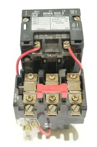 SQUARE D 8536SBG2 MOTOR STARTER CLASS 8536 TYPE SBG 2 FORM S SERIES A