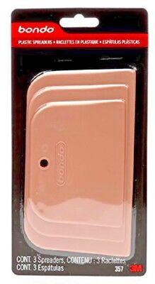 (Plastic Flexible Spreaders Body Filler Spreader Reusable 3 Pack 3M 357 Bondo)