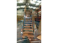 3.5m High Mezzanine Staircase £800 + Vat