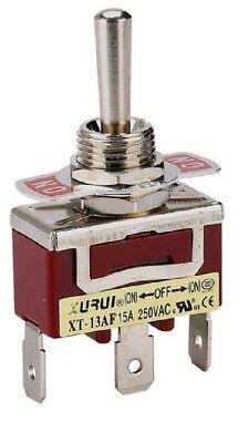 Heavy Duty Spdt On-off-on Momentary Toggle Switch - Spade Terminals 13af
