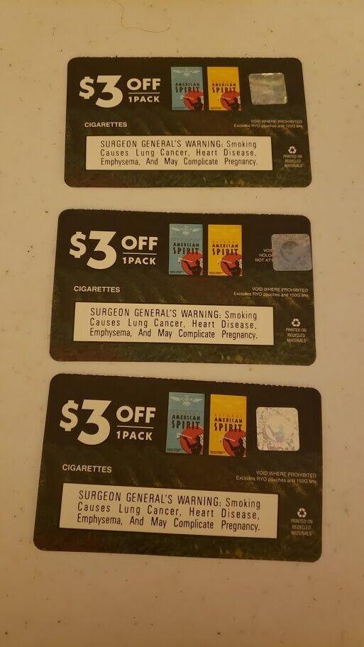American Spirit 3 For 3 Off 9 Savings - $4.99