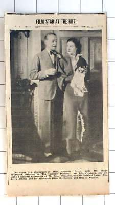 1936 Miss Honorine Catto To Appear At The Ritz Penzance, Hugh Wakefield