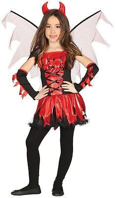 Mädchen 5 Stück Fire Devil Halloween Kostüm Kleid Outfit 3-4 Jahre Alt ()