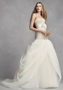 White by Vera Wang wedding dress/gown