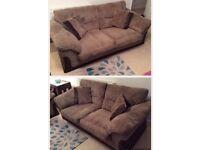 DFS jumbo cord sofa x2