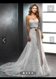 Wedding dress plus belt