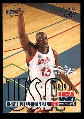SHAQUILLE O'NEAL MAGIC USA Electric Court INSERT CARD #321 1995-96 Upper Deck UD