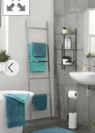 Next Moderna Chrome Towel Store ladders shelf RRP £60
