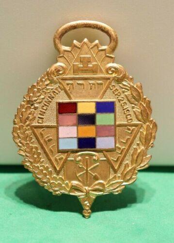 Masonic Badge Cincinnati Sept 25, 1900 Multi Color