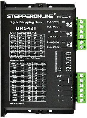 Stepperonline Digital Stepper Motor Driver 1.0-4.2a 20-50vdc For Nema 17 23