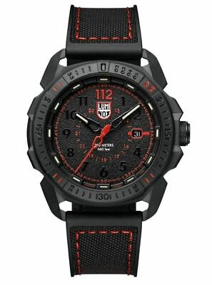 Luminox 1002 Men's 46mm Case Black Rubber Strap ICE-SAR Black Dial  Watch