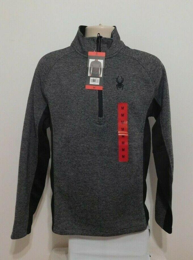 Spyder Mens Mens Limitless Solid Half Zip T-Neck Athletic-Shirts