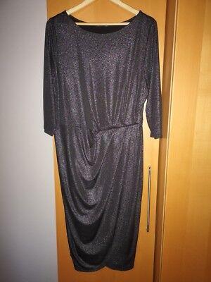 M&S DARK SILVER SPARKLE DRESS SIZE 18 - Dark Sparkle