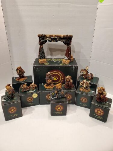 Boyds Bears & Friends Nativity series 11 Piece Set With Original Boxes