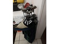 Full set of Memphis Clubs and Bag with 3 vintage woods