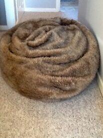 Large Fluffy Bean Bag