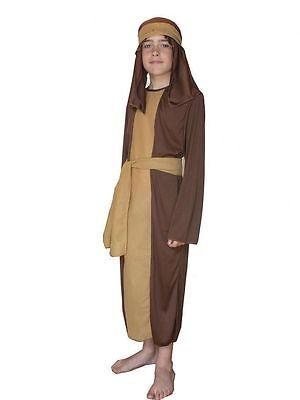 Jungen Mädchen Braun Shepherd Joseph Kostüm Krippenspiel - Braun Shepherd Kostüm