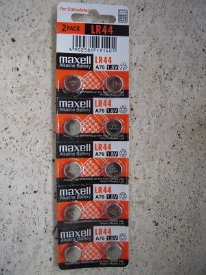 LR44 MAXELL 10 BATTERIES BATTERY NEW NW A76 L1154 AG13 357 SR44 303