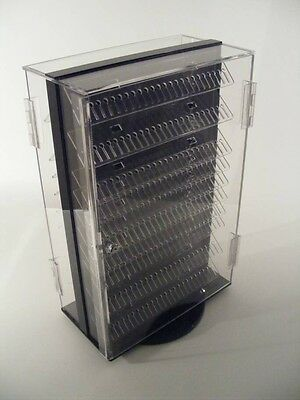 Two-side Rotating Locking Body Jewelry Display 13x7.5x20h Holds 480pcs Made Usa