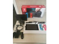 nintendo switch console . boxed.