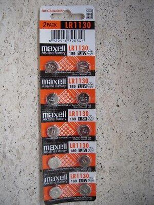 LR1130 Maxell 10 Batteries 1.5V Battery AG10 189 1130 LR54