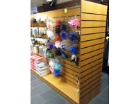 Shop Retail Slatwall H Display stand / island