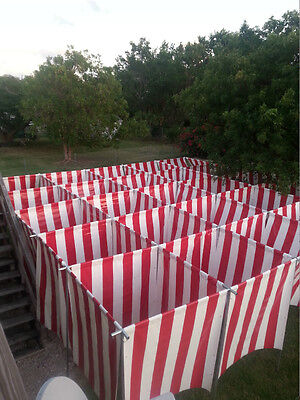 25'x25' Professional Striped Candy Cane Christmas Maze, George Maser