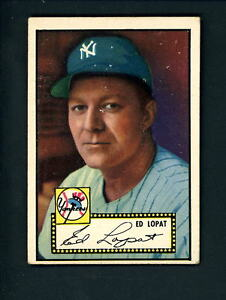 1952-Topps-57-BLACK-BACK-Ed-Lopat-EX-cond-Yankees