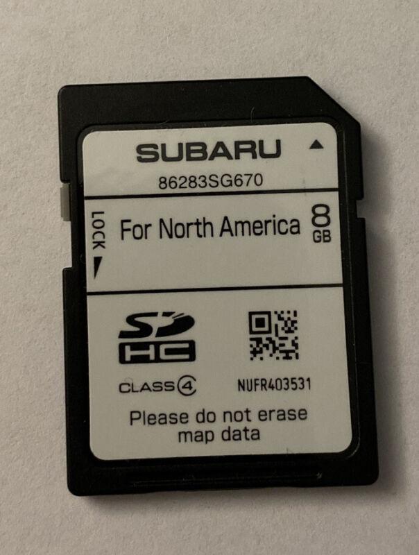 86283SG670 2015 SUBARU Navigation Card Latest MAP Update for North America