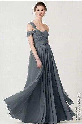 Jenny Yoo Mira Dress in Denmark Blue - US Size 8/UK Size 12