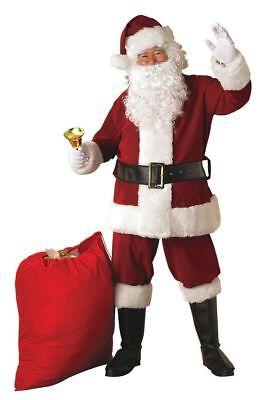 Rubies Crimson Edles Weihnachtsmann Anzug Kunstpelz Herren Weihnachten Kostüm (Rubies Weihnachtsmann Kostüm)