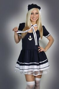 Sexy-Halloween-Womens-Sailor-Fancy-Dress-Costume-outfit-S-M-L