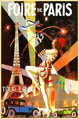 Foire de Paris Tour Eiffel Poster New Repro Porte de Versailles Art Print 322 Paris Porte De Versailles