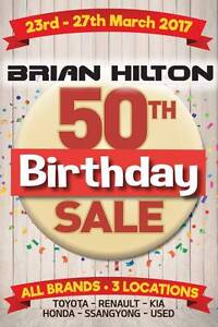 Brian Hilton 50th Birthday Sale - 23rd - 27th March Wyoming Gosford Area Preview