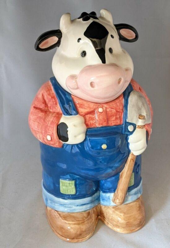 Hank Holstein Cookie Jar Ceramic Cow NEW & Original BOX Vintage Made in USA Farm
