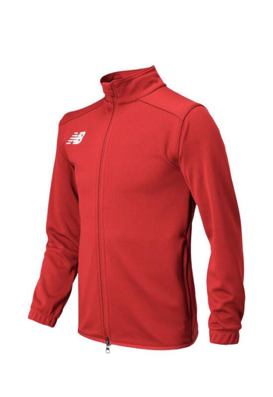 NWT New Balance BOYS Knit Training Jacket Full zip up Active Jacket RED S M L XL