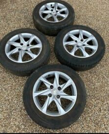 """15"""" 4x108 Peugeot 208 307 Alloy Wheels Alloys With Tyres Genuine 207 206"""