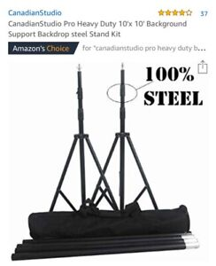 Photography Equipment - Back Drop Steel Stand Kit