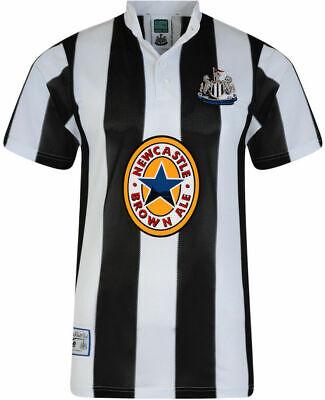 Score Draw Retro Newcastle FC 1996 Home Football Shirt Top S M L XL 2XL New