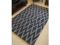 Brand new blue and grey rug