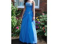 Sacha James marine blue, size 8 prom dress