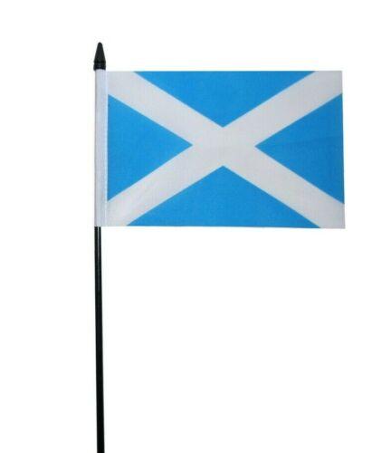 "Scotland St Andrews Light Blue Small Hand Waving Flag 6"" x 4"""